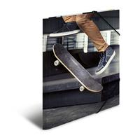 HERMA map: Elasticated folder A4 cardboard skateboard - Multi kleuren