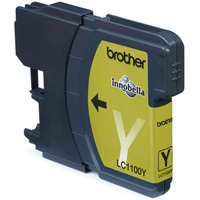 Brother inktcartridge: LC-1100Y Yellow Ink Cartridge Blister Pack - Geel