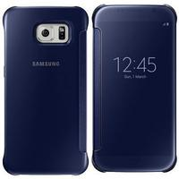 Samsung mobile phone case: Galaxy S6 Clear View Cover - dark blue/black - Zwart, Blauw