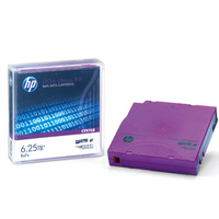 Hewlett Packard Enterprise datatape: HP LTO-6 Ultrium 6.25TB BaFe RW Custom Labeled Data Cartridge 20 Pack - Paars