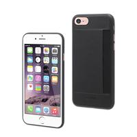 Muvit mobile phone case: Black Card Case With 1 Card Holder For Apple Iphone 7 - Zwart