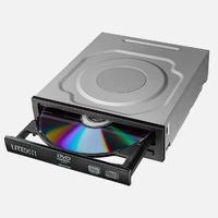 Lite-On brander: 24/16x DVD±RW 160ms, 48x CD-R/RW 140ms, SATA, 512KB Buffer - Zwart, Roestvrijstaal