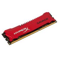 HyperX RAM-geheugen: HyperX Savage 4GB 1600MHz DDR3 - Rood