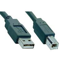 V7 USB kabel: USB 2.0 Cable USB A to B (m/m) grey 1,8m - Grijs