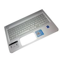 HP notebook reserve-onderdeel: Top Cover & Keyboard (UK English) - Zilver