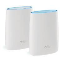 Netgear wireless router: Orbi RBK50 Tri-Band AC3000 Mesh Starter Kit (2-Pack) - Wit