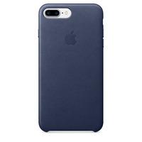 Apple mobile phone case: Leren hoesje voor iPhone 7 Plus - Middernachtblauw