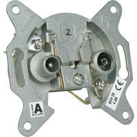 Schwaiger wandcontactdoos: Radio/TV, 4-862 MHz, 1 x IEC jack, 1 x IEC connector - Zilver