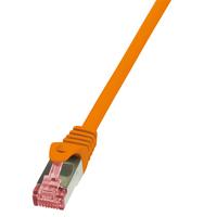 LogiLink netwerkkabel: 0.25m Cat.6 S/FTP - Oranje