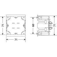 Legrand Wandgootdoos Click-it enkelvoudig 71x71mm. Voor inbouw met montagebeugel of ring van max. 71mm. .....