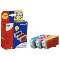 Pelikan inktcartridge: P21 - Cyaan, Magenta, Geel