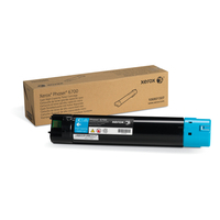 Xerox cartridge: Hoge capaciteit tonercartridge, cyaan (12.000 pagina's) Phaser 6700