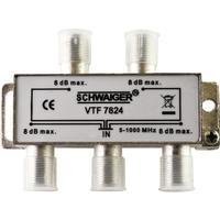 Schwaiger kabel splitter of combiner: VTF7824 531 - Zilver