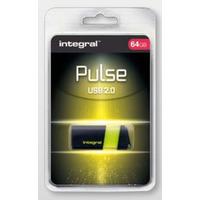 Integral PULSE USB flash drive - Zwart, Geel