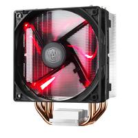 Cooler Master Hardware koeling: Hyper 212 LED - Zwart, Metallic, Rood