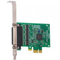 Brainboxes interfaceadapter: PCIe 4xRS232 1MBaud - Groen