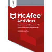 McAfee algemene utilitie: AntiVirus 2018, 1 Device (Dutch / French)