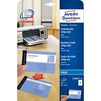 Avery Zweckform visitiekaart: Visitekaartjes, gladde rand, Inkjet printer, 260 g