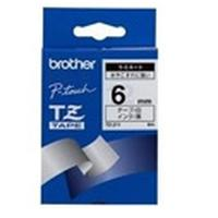 Brother labelprinter tape: Black on White Gloss Laminated Tape, 6mm