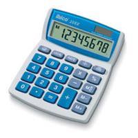Ibico calculator: 208X - Blauw, Wit