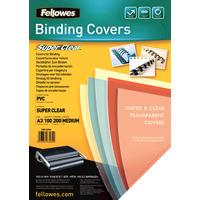 Fellowes Transparante PVC dekbladen - 200 micron A3 Binding cover