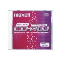 Maxell CD: CD-RW 700MB 80Min 1-10x HighSpeed JC 10pk