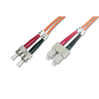 Digitus fiber optic kabel: ST/SC, 10 m - Multi kleuren