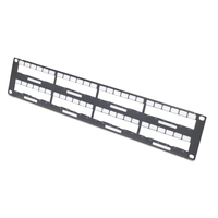 APC rack: Data Distribution 2U Panel, Holds 8 each Data Distribution Cables for a Total of 48 Ports - Zwart