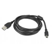 Gembird USB kabel: 1.8m USB 2.0 A/mini-USB  - Zwart