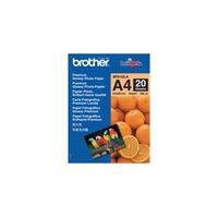 Brother fotopapier: A4 glanzend papier - Blauw, Oranje