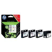 HP inktcartridge: 932XL originele zwarte/933XL cyaan/magenta/gele inktcartridges, 4-pack - Zwart, Cyaan, Magenta, Geel