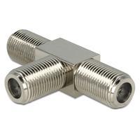 DeLOCK kabel adapter: Adapter F Jack > F Jack > F Jack T-Shape - Metallic