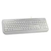 Microsoft Wired Keyboard 600 - Alphanumeric toetsenbord - Wit