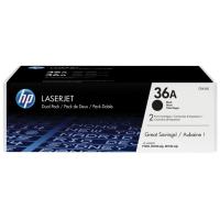 HP toner: 36A 2-pack zwart o.a. voor LaserJet M1120 & M1522