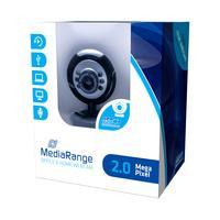 MediaRange webcam: 2 MP, 1280 x 1024, USB 2.0, Black/Grey - Zwart, Grijs