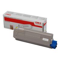 OKI cartridge: Zwart Toner Cartridge - Geel