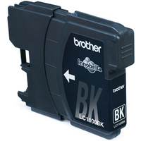 Brother inktcartridge: LC-1100BKBP Blister Pack - Zwart