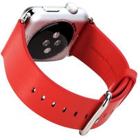 ROCK : Genuine Leather Watchband, f / Apple Watch 42mm, Red - Rood