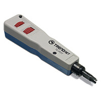 Trendnet network analyzer: TC-PDT Punch Down Tool with 110 and Krone Blade  - Blauw, Wit