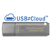 Kingston Technology USB flash drive: DataTraveler Locker+ G3 8GB - Zilver