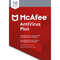 McAfee algemene utilitie: AntiVirus 2018, 10 Devices (Dutch / French)