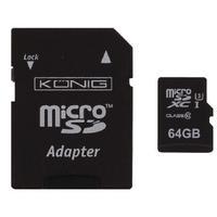 König flashgeheugen: 64GB MicroSDXC - Zwart