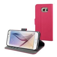 Muvit mobile phone case: Pink Wallet Folio Stand Case for Samsung Galaxy S6 - Roze