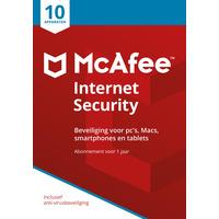 McAfee algemene utilitie: Internet Security 2018, 10 Devices (Dutch)