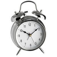 TFA wekker: 98.1043 - Zilver, Wit