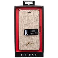 GUESS mobile phone case: beige iPhone 6 hoesje met krokodillenprint