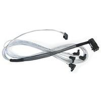 Adaptec kabel: ACK-I-rA-HDmSAS-4rASATA-SB-.8M - Zilver