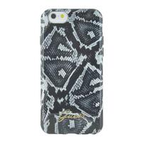 GUESS mobile phone case: iPhone 6s en iPhone 6 back cover met python print - Zwart, Grijs