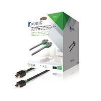König HDMI kabel: HDMI/HDMI, 20 m - Grijs