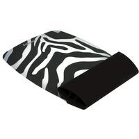 Fellowes muismat: Siliconen polssteun - zebra - Zwart, Wit